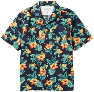 Original Penguin Hibiscus Print Short Sleeve Shirt