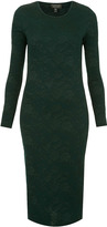Topshop Jacquard Midi Bodycon Dress
