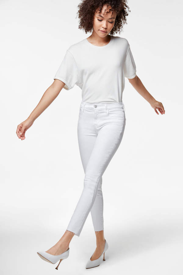 Alana High-Rise Cropped Super Skinny In Photo Ready White Bastille