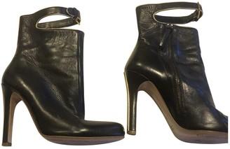 Miu Miu Black Leather Ankle boots