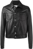 Maison Margiela classic leather jacket - men - Cotton/Sheep Skin/Shearling/Viscose - 48