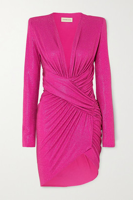 Alexandre Vauthier Ruched Crystal-embellished Stretch-jersey Mini Dress - Fuchsia