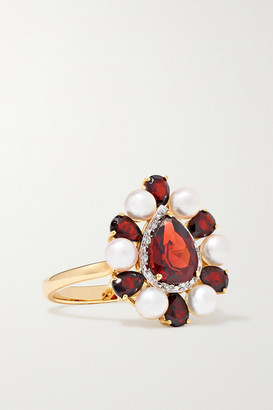 Anissa Kermiche Woman In Red 14-karat Gold Multi-stone Ring - 7