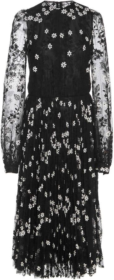 Giambattista Valli Floral Embroidered Long Sleeve Dress