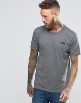 The North Face T-Shirt With Chest Logo In Grey