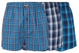Mantaray Three Pack Of Blue Woven Boxers