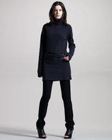 Ann Demeulemeester Front-Zip Jersey Leggings