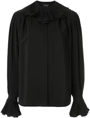 Giambattista Valli Silk Frilled Collar Blouse