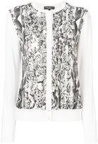Salvatore Ferragamo Orange Fiber print cardigan - women - Silk/Cotton/Viscose/Cellulose - M