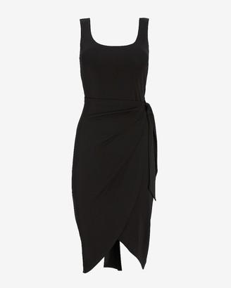 Express Square Neck Wrap Sheath Dress