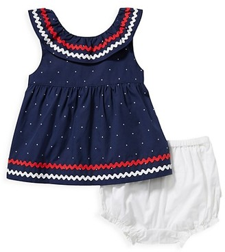 Janie and Jack Baby Girl's 2-Piece Ric Rac Dot Matching Set