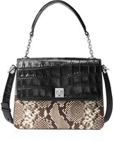 MICHAEL Michael Kors Large Natalie Python-Embossed Top Handle Satchel
