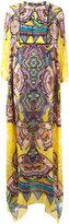 Roberto Cavalli Aztec print handkerchief dress - women - Silk/Cotton/Spandex/Elastane/Viscose - 40