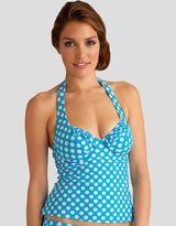 Figleaves Midnight Grace by figleaves.com Pin Up Underwired Halter Tankini Top