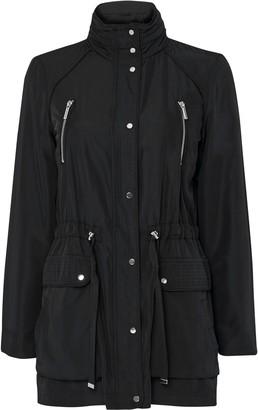 Wallis Black Funnel Neck Coat