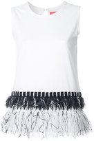 Coohem fringed trim top - women - Cotton - 38