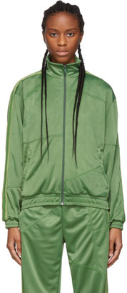 Daniëlle Cathari Green Deconstructed Track Jacket