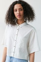 Silence & Noise Silence + Noise Cropped Button-Down Blouse