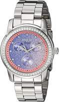 Invicta Women's 'Angel' Quartz Stainless Steel Casual Watch, Color:Silver-Toned (Model: 23821)