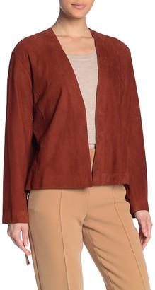 Vince Lambskin Cardigan Jacket