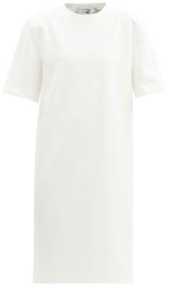 Tibi Shoulder-padded Cotton-jersey Shift Dress - White