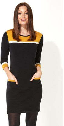 M&Co Roman Originals colour block knitted dress
