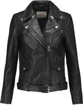 Maje Edouard leather biker jacket