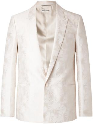 Saint Laurent Slim-Fit Wool And Silk-Blend Jacquard Suit Jacket