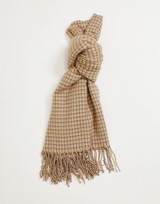 Accessorize Cher check blanket scarf in green multi