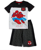 Nannette Boys 2-7 Spider-Man Pocket Tee and Shorts Set