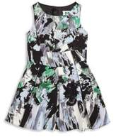 Milly Girl's Painterly Floral Printed Dress