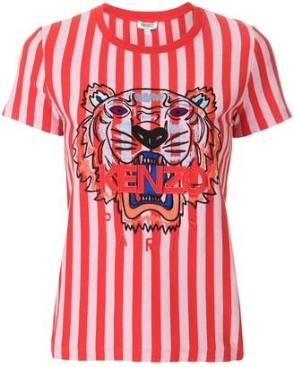 Kenzo striped Tiger T-shirt