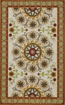 Momeni Rugs SUZHKSZI-25080 Suzani Hooks Collection, 100% Wool Hand Hooked Traditional Area Rug