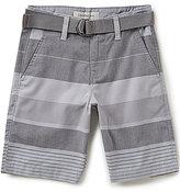 Calvin Klein Big Boys 8-20 Striped Belted Shorts