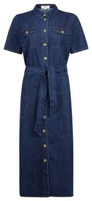 Dorothy Perkins Womens **Tall Blue Denim Shirt Dress, Blue