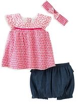 Absorba Girls' Top, Shorts & Headband Set - Baby