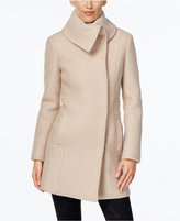 Cole Haan Envelope-Collar Textured Walker Coat
