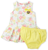 juicy couture (Newborn/Infant Girls) Two-Piece Floral Lace Dress & Bloomers Set
