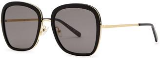 Stella McCartney Black Oversized Sunglasses
