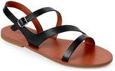 Lucky Brand Black Alexcia Strappy Flat Sandals