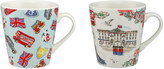 Cath Kidston London Town Set Of 2 Mini Stanley Mugs