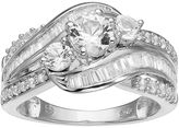 14k White Gold 1 1/2 Carat T.W. IGL Certified Diamond 3-Stone Engagement Ring