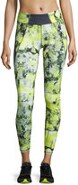 Charlie Jade Floral-Print Performance Leggings, Yellow