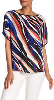 Vince Camuto Dolman Sleeve Printed Blouse