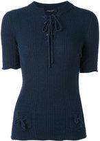 Roberto Collina ribbed drawstring jumper - women - Cotton/Polyamide - S