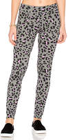 Sundry Leopard Yoga Pants in Gray. - size 1 / S (also in 2 / M,3 / L)
