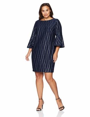 Jessica Howard Size Womens Bell Sleeve Sheath Dress