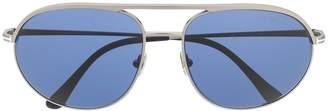Tom Ford Double-Bridge Round-Frame Sunglasses