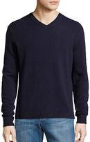 Black Brown 1826 V-Neck Wool-Blend Sweater