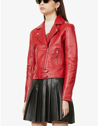 Pinko Sensible leather biker jacket